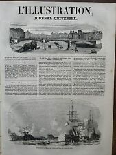 L' ILLUSTRATION 1848 N 290  BOMBARDEMENT DE MESSINE PAR LA FLOTTE NAPOLITAINE