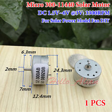 Micro 300-11440 Solar Motor DC 1.5V-6V 3300RPM para el modelo de energía solar/Ventilador Hazlo tú mismo Nuevo