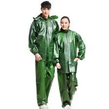 Men Women Raincoat Rainsuit Waterproof Hooded Tops & Pants Rain Days Outwear