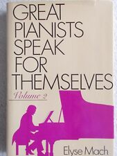 Great Pianists Speak for Themselves Elyse Mach HBDJ Unmarked