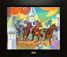 American Pharoah Canvas Art Print of Oil Large Horseracing Preakness SFASTUDIO