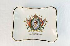 RARE Royal Dalton dish Queen Elizabeth II Coronation June 2 1953