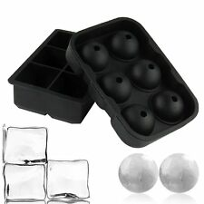 2* ICE Balls Maker Round Sphere Tray Mold Cube Whiskey Ball Cocktails Silicone