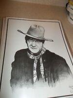 JOHN WAYNE SKETCH BY ARTIST DALE ADKINS 11 X 14 PRINT      639