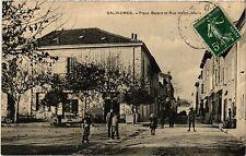 CPA  Salindres - Place Balard et Rue Henri-Merle  (458966)