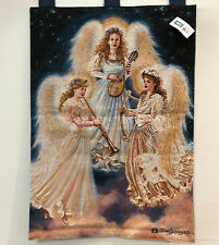 """Choir of Angels Tapestry Wall Hanging Dona Gelsinger 26"""" W x 36"""" L Made USA EUC"""