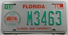 USA Nummernschild aus Florida A&M University mit Wappen Centennial. 7835.