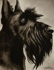 New ListingScottish Terrier Art Print Sepia Watercolor Paper Artist Djr