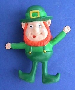 Gibson PIN St Patrick Vintage LEPRECHAUN Irish BENDY Holiday Brooch