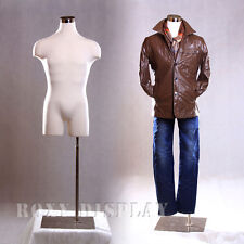 Male Mannequin Manequin Manikin Dress Form #33MLEG01+BS-05