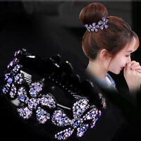 Rhinestone Crystal Wedding Flower Hair Comb Pins Bridal Accessories Jewelry Gift