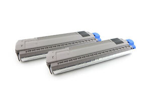Toner Doppelpack, 2 Kartuschen ersetzt OKI 45862822, 2x 15000 Seiten