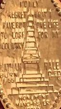 Captain Nathan Hale Monument 1960-D Cent Elongated Coin Obelisk 45 Ft (14m)