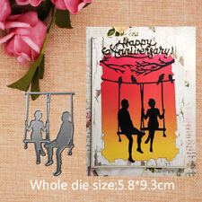 Swing Couple Metal Cutting Dies Stencils For Scrapbooking Valentine Cards Crafts