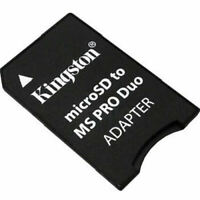 Kingston TF MicroSDHC Card to Memory Stick Pro Duo Adapter for Sony Camera PSP