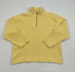 Tommy Bahama Flip Side Pro Half Zip Cream Yellow Large