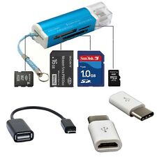 Card Reader+OTG Adapter Cable+Type-C to Micro USB Converter For Samsung Android+
