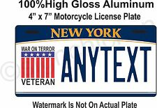 New York License Plate, War On Terror, Motorcycle tag, Custom, personalized,