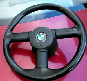BMW Z1 LEATHER STEERING WHEEL FITS BMW E34 E36 RARE COLLECTIBLE PIECE ORIGINAL