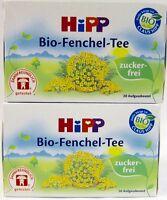HiPP Fennel Tea -ORGANIC Tea  -Made in Germany- 2 BOXES -40 tea bags