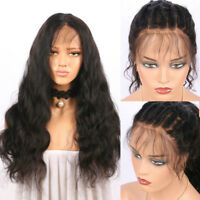"""20"""" Pre Plucked Frontal Lace Closure Glueless Full Wig Natural Hairline Wigs"""