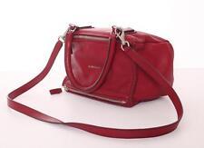 GIVENCHY Red Small PANDORA Leather Box Satchel Crossbody Bag Handbag NEW NWT