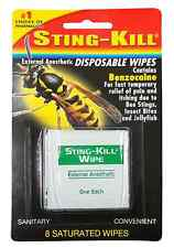 Sting-Kill Disposable Wipes 8 Each