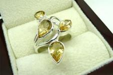 Unbranded Pear Natural Citrine Fine Rings