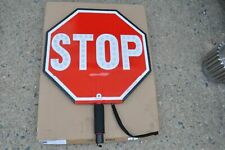 """18"""" HAND HELD STOP SIGN ,18SLS  STEADY & FLASH  Police, Crossing Guard  NEW"""