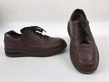 Cabela's 82-1079 Brown Pebbled Leather Vibram Wedge Walking Shoes Men's 9 B