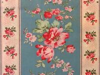 RPG681F Country Chic French Floral Shabby English Garden Cotton Quilt Fabric