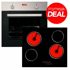 Myappliances 60cm Touch Control Ceramic Hob 60cm Electric Fan Oven and 60cm Deal
