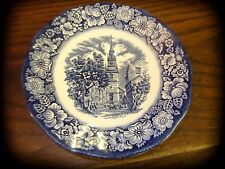 VINTAGE LIBERTY BLUE SAUCER - Historic Colonial Scenes OLD NORTH CHURCH