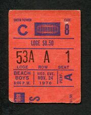 1976 The Beach Boys concert ticket stub Madison Square Garden Surfer Girl