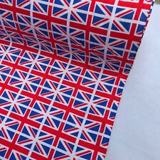LOVE NHS Union Jack Flags Cotton Poplin Fabric Dress Kids Crafts Scrubs SEW GB