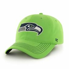 Seattle Seahawks 47 Brand Game Time Closer Hat Stretch Fit Flex Cap Lime