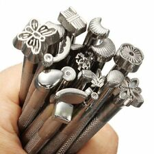 20 PCS/Set Leather Working Saddle Leather Craft Carve Stamps Making DIY Tools US