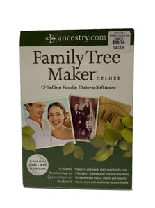 Ancestry.com Family Tree Maker Deluxe 2012 Software CD for Windows Genealogy