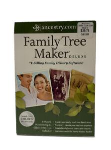Ancestry.com Family Tree Maker Deluxe 2012 Software CD for Windows Genealogy