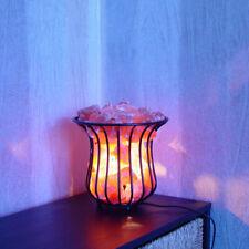 Salt Lamp Fire Bowl Basket Iron Tall 3-4kg Himalayan Salt Chunks Grade A Quality