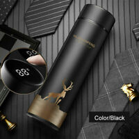 450ml Stainless Steel Thermos Flask Vacuum Cup Travel Water Bottle Cup Mug LED