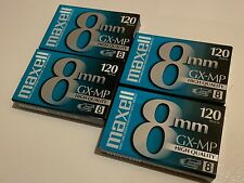 New listing Lot of (4) Maxell Gx-Mp High Quality 8mm Blank Camcorder Videotapes ~ Brand New!