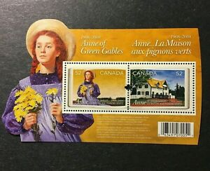 """Canada - """"BOOKS ~ ANNE OF GREEN GABLES"""" MNH Odd - Shaped MS 2008 !"""