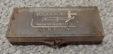 Vintage Buck Knives Washita Sharpening Stone #131 in Plastic Box Knife
