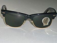 VINTAGE B&L RAY BAN SHINY BLACK EBONY ARISTA G15 SMALL WAYFARER MAX SUNGLASSES