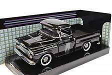CHEVROLET APACHE FLEETSIDE PICKUP 1958 MOTORMAX 79311 1:24 NEW DIECAST BLACK