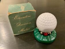 Vintage Golf Ball — Executive Decision Maker Spinning Paperweight w/Box