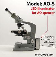 LED illuminator retrofit Kit with dimmer control for older AO microscopes.