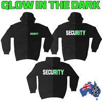 SECURITY GLOW IN THE DARK HOODIE bouncer workwear hoodies hoody funny birthday
