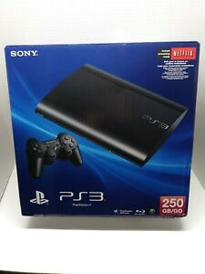 Sony PlayStation 3 Slim 250GB Charcoal Black Console Complete System